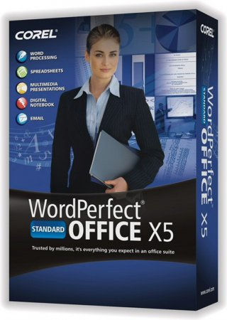 Скриншот к файлу: WordPerfect Office  X5 Standard