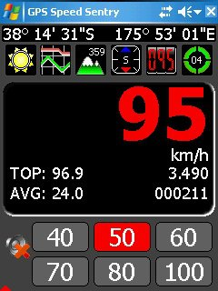 Скриншот к файлу: GPS Speed Sentry  1.5.9