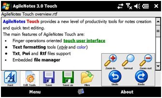 AgileNotes Touch 3.0
