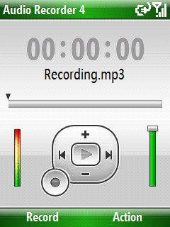 Скриншот к файлу: Resco Audio Recorder  4.01