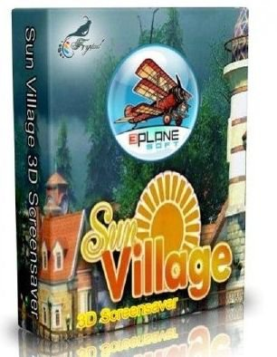 Скриншот к файлу: Sun Village 3D Screensaver  1.1