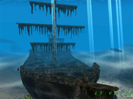 Скриншот к файлу: Pirates Ship 3D Screensaver  1.0