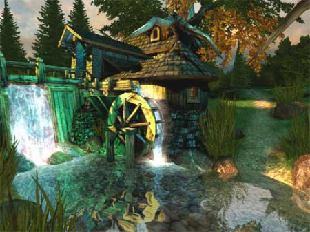 Скриншот к файлу: Watermill 3D Screensaver  2.0