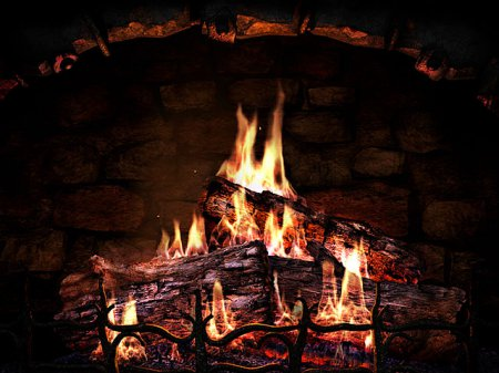 Скриншот к файлу: Fireplace 3D Screensaver  2.0