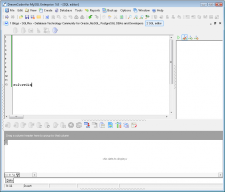 DreamCoder for MySQL Free Edition 5.0.1.0